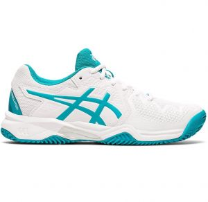 Кроссовки дет. Asics Gel-Resolution 8 clay white/ocean-blue